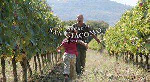 Abbraccio in vigna - Podere San Giacomo - Brunello di Montalcino